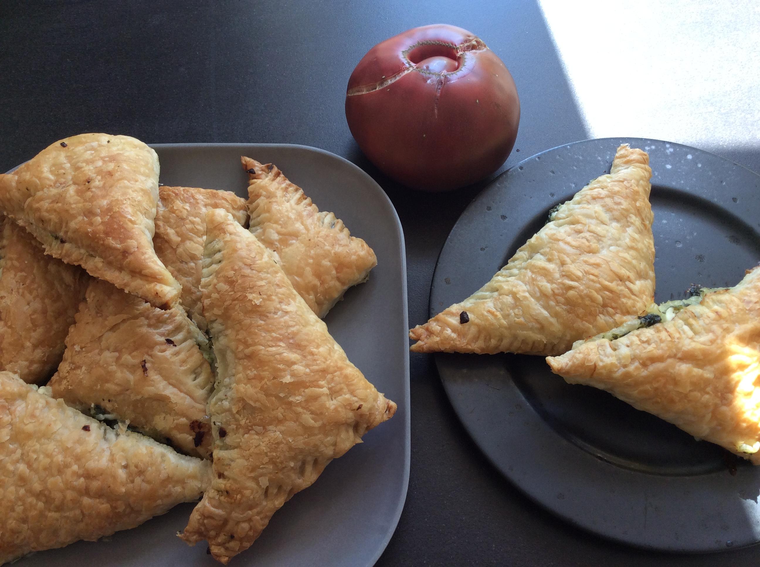 Butterdejspakker Med Spinat Og Feta Vegetarmordk